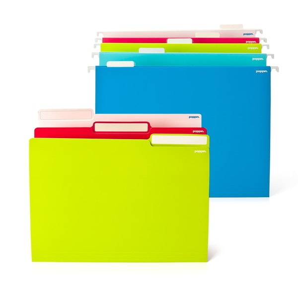 File in Style, 24 Lime Letter + 25 Assorted Hanging Folders,Lime Green,hi-res