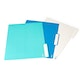 White, Pool Blue + Aqua Letter-Size File Folders, Box of 24,Aqua,hi-res