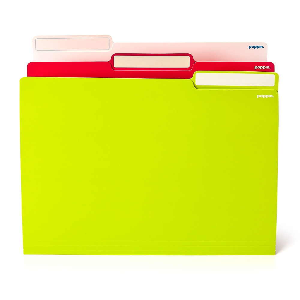 ... Pink + Lime Green Letter Size File Folders, Box Of 24,Lime