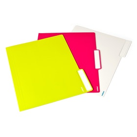 White, Pink + Lime Green Letter-Size File Folders, Box of 24,Lime Green,hi-res