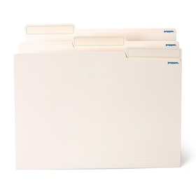 File in Style, 24 White Letter + 25 Assorted Hanging Folders,White,hi-res