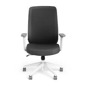 Dark Gray Max Task Chair High Back, White Frame,Dark Gray,hi-res