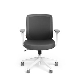 Dark Gray Max Task Chair, Mid Back, White Frame,Dark Gray,hi-res