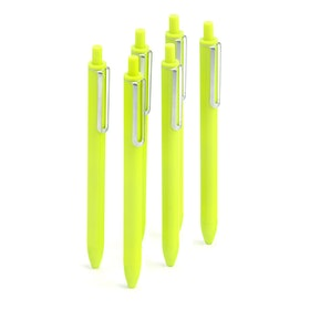 Lime Green Retractable Gel Luxe Pens, Set of 6,Lime Green,hi-res