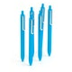 Pool Blue Retractable Gel Luxe Pens w/ Blue Ink, Set of 6,Pool Blue,hi-res