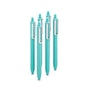 Aqua Retractable Gel Luxe Pens, Set of 6,Aqua,hi-res