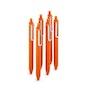 Orange Retractable Gel Luxe Pens, Set of 6,Orange,hi-res