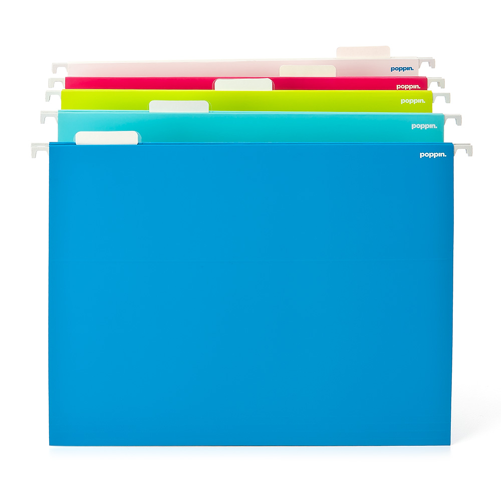 Assorted Colors Letter Size Hanging Folders