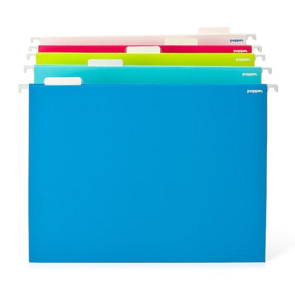 Assorted Letter Size Hanging Folders, Set of 25,Assorted,hi-res