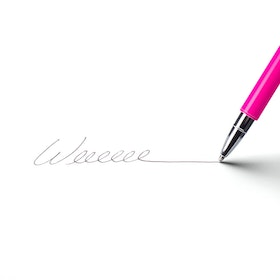 Pink Heavy Weight Metal Pen,Pink,hi-res