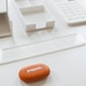 Orange Pebble Eraser,Orange,hi-res