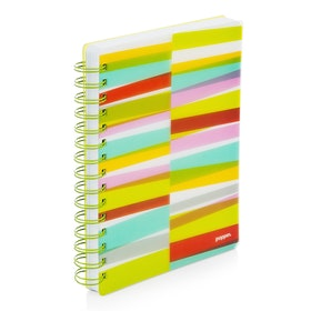 Lime Green Streamer Spiral Subject Notebook,Lime Green,hi-res