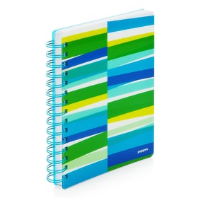 Pool Blue Streamer Spiral Subject Notebook,Pool Blue,hi-res