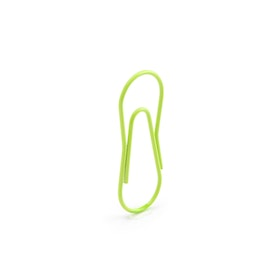 Lime Green Paper Clips, Box of 50,Lime Green,hi-res