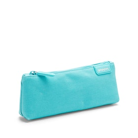 Aqua + Coral Pencil Pouch,Aqua,hi-res