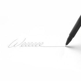 Custom Black Signature Ballpoint Pen with Black Ink,Black,hi-res