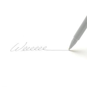 Custom Light Gray Signature Ballpoint Pens with Black Ink,Light Gray,hi-res