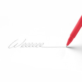 Custom Red Signature Ballpoint Pen with Black Ink,Red,hi-res