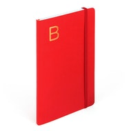 Red Medium Soft Cover Notebook with Gold Initial,,hi-res