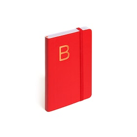 Red Small Soft Cover Notebook with Gold Initial,,hi-res