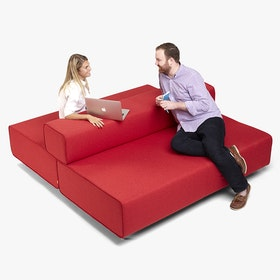 Red Block Party Lounge Back It Up Sofa,Red,hi-res