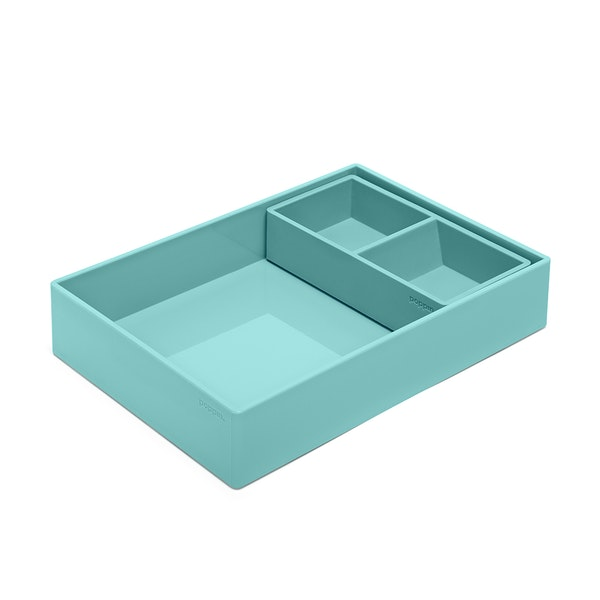 Aqua Double Tray,Aqua,hi-res
