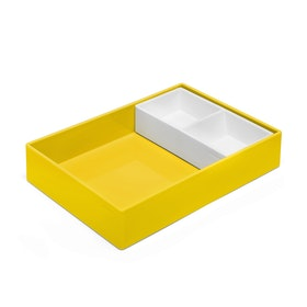 Yellow + White Double Tray,Yellow,hi-res