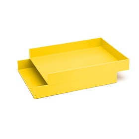 Yellow Letter Trays, Set of 2,Yellow,hi-res