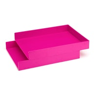 Pink Letter Trays, Set of 2,Pink,hi-res