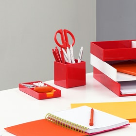 Custom Red Pen Cup,Red,hi-res