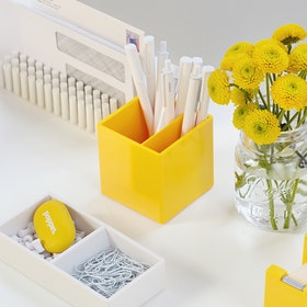 Yellow Pen Cup,Yellow,hi-res