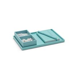 Aqua Medium Slim Tray,Aqua,hi-res