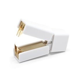 White + Gold Staple Remover,,hi-res