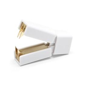 White + Gold Staple Remover,,hi-res