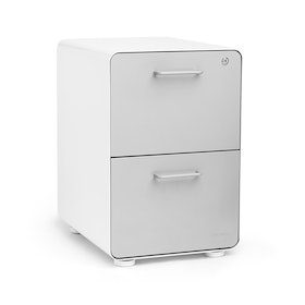 White + Light Gray Stow 2-Drawer File Cabinet, Fully Loaded,Light Gray,hi-res