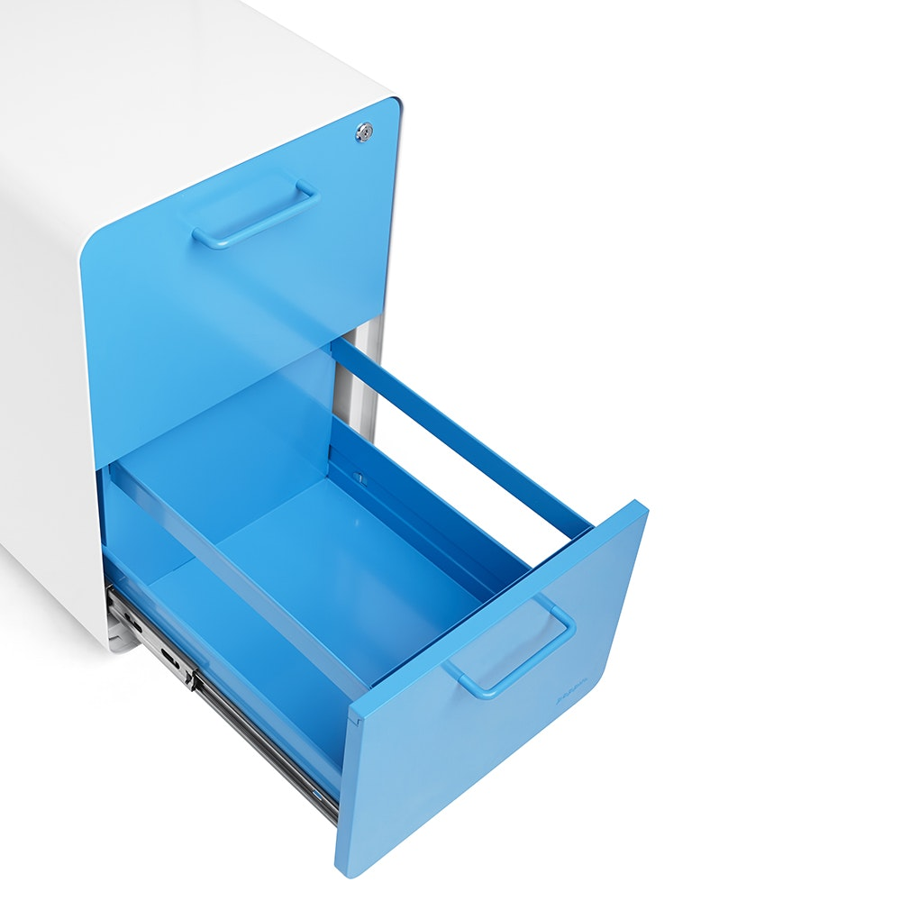 White + Pool Blue Stow 2 Drawer File Cabinet,Pool Blue,hi  ...