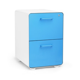 White + Pool Blue Stow 2-Drawer File Cabinet,Pool Blue,hi-res