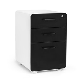 White + Black Stow 3-Drawer File Cabinet,Black,hi-res