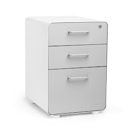 White + Light Gray Stow 3-Drawer File Cabinet, Fully Loaded,Light Gray,hi-res