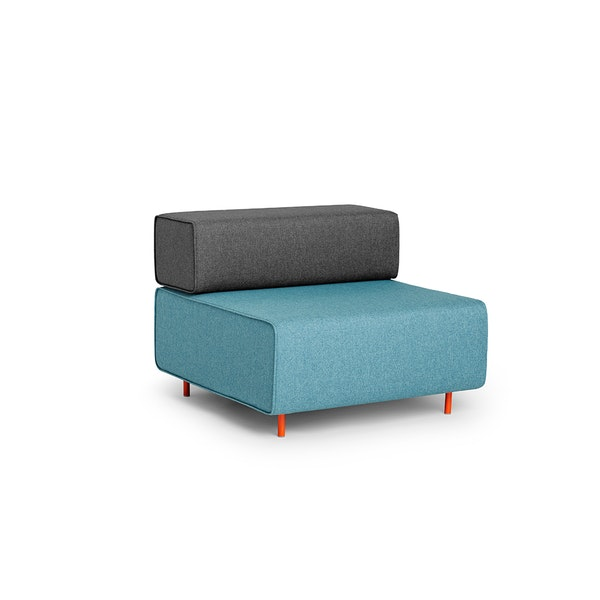 Blue + Dark Gray Block Party Lounge Chair,Blue,hi-res