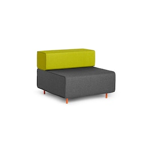 Dark Gray + Green Block Party Lounge Chair,Dark Gray,hi-res