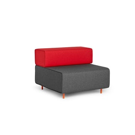 Dark Gray + Red Block Party Lounge Chair,Dark Gray,hi-res