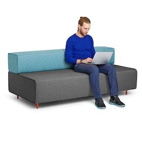 Dark Gray + Blue Block Party Lounge Sofa,Dark Gray,hi-res