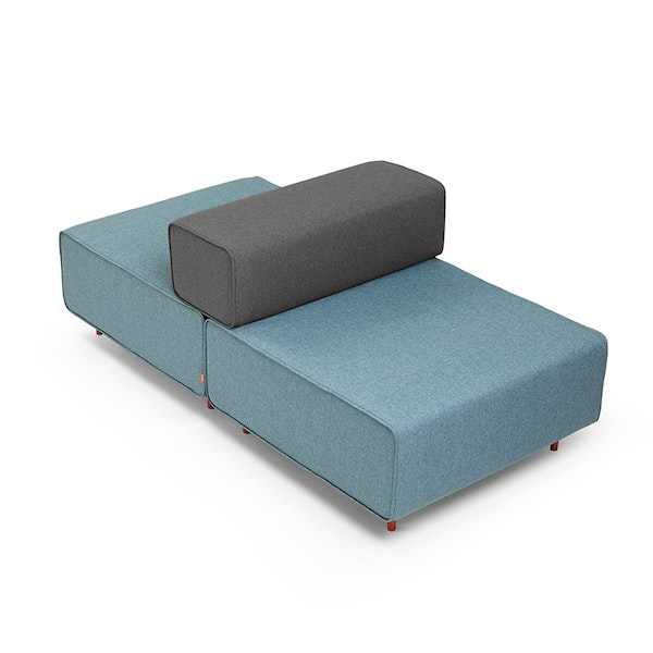 Blue + Dark Gray Block Party Lounge Back It Up Chair,Blue,hi-res