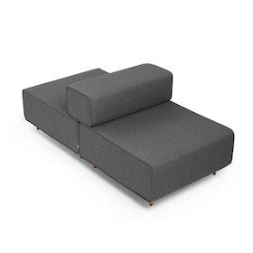Dark Gray Block Party Lounge Back It Up Chair,Dark Gray,hi-res
