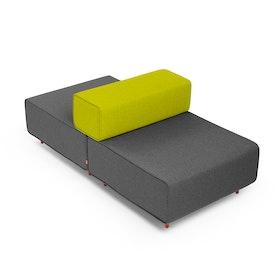 Dark Gray + Green Block Party Lounge Back It Up Chair,Dark Gray,hi-res