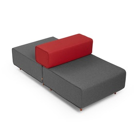 Dark Gray + Red Block Party Lounge Back It Up Chair,Dark Gray,hi-res