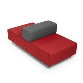 Block Party Lounge Back it Up Chair, Red + Dark Gray,Red,hi-res