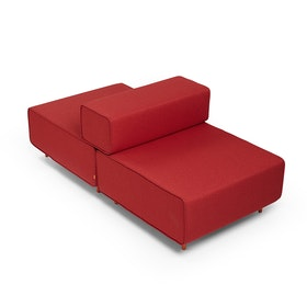 Block Party Lounge Back it Up Chair, Red,Red,hi-res