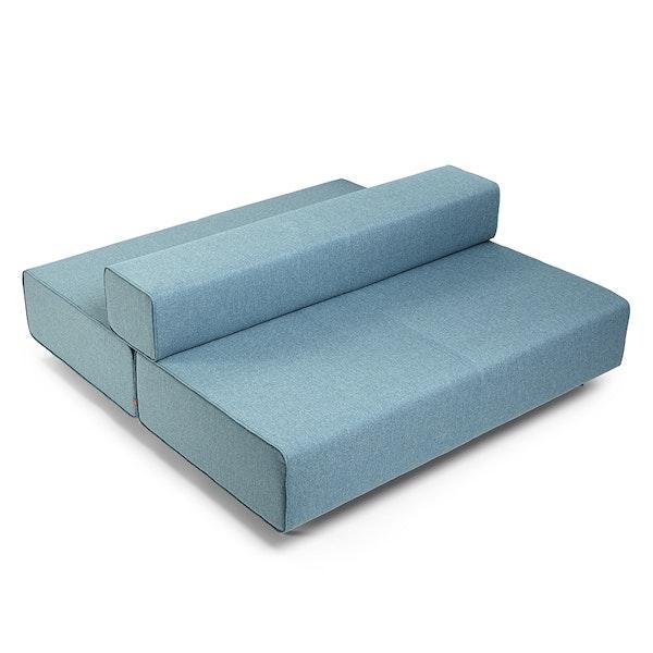 Blue Block Party Lounge Back It Up Sofa,Blue,hi-res